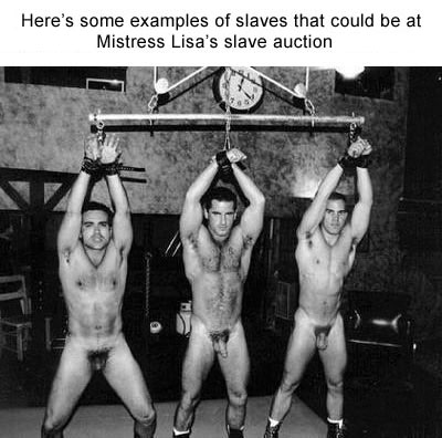Are not Male slave auction pictures all can
